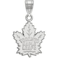 LogoArt 14 Karat White Gold NHL Toronto Maple Leafs Medium Pendant