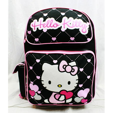 Backpack - - Glitter Heart Black School Bag 16 New Gifts Toys 83074