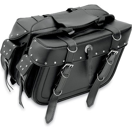 All American Riders Extra Large Box Detachable Slant Saddlebags Rivet (9698RP)