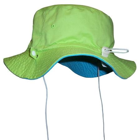 NICE CAPS Unisex Kids Reversible And Adjustable Cotton Twill Aussie Hat ()
