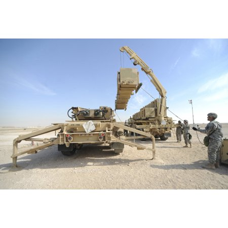 - February 12 2010 - US Army Patriot Launch Station operatormaintainers from Bravo Battery 1-43 Air Defense Artillery perform a missile reload certification at a non-disclosed Southwest Asia location Po
