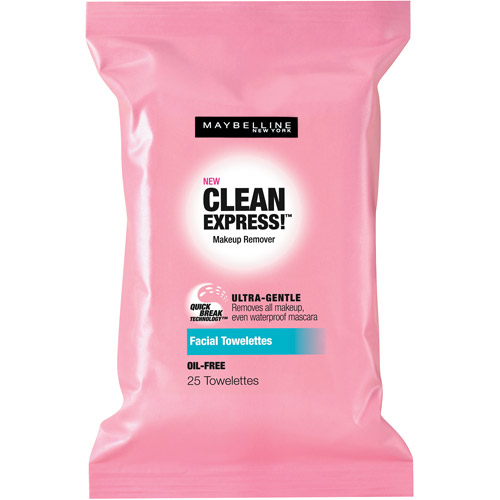 Maybelline Clean Express! Makeup Remover Facial Towelettes, 25 count