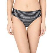 PRANA Women's Standard Ramba Bottom, Black Stripe, Medium