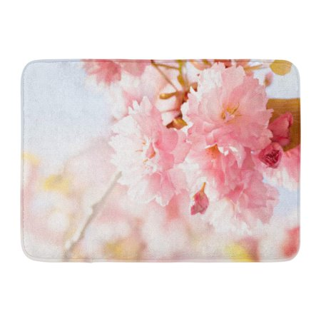 GODPOK Event Sunshine Sakura Cherry Blossom in Springtime Beautiful Pink Flowers Beauty Garden Rug Doormat Bath Mat 23.6x15.7 -