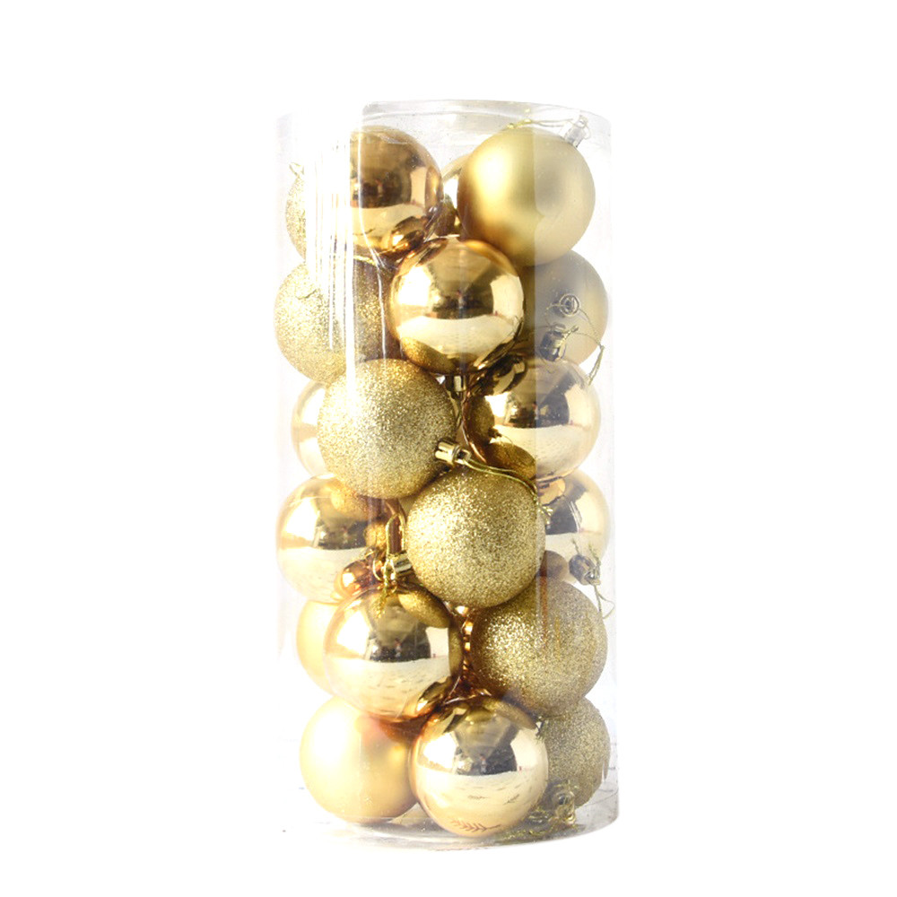 24pcs Shiny and Polshed Glossy Christmas Tree Ball Ornaments Decorations 1.5''