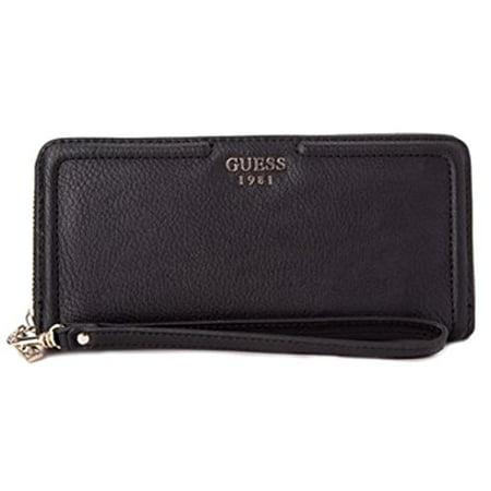 GUESS Andie Women's SLG Zip Around Wallet Clutch Wallet, Black