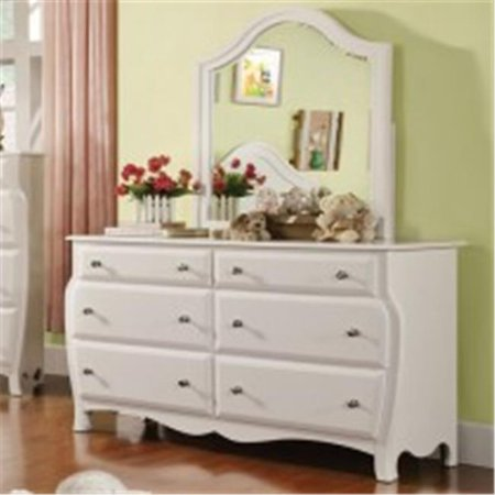 Furniture Of America IDF-7940M Roxana White Transitional (American Drew Mirror)