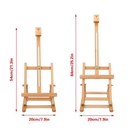 HURRISE Adjustable Height 106cm Tabletop Wood Studio H-Frame Easel Artist Painting Tool, Adjustable Easel, Wood Easel - image 1 of 12