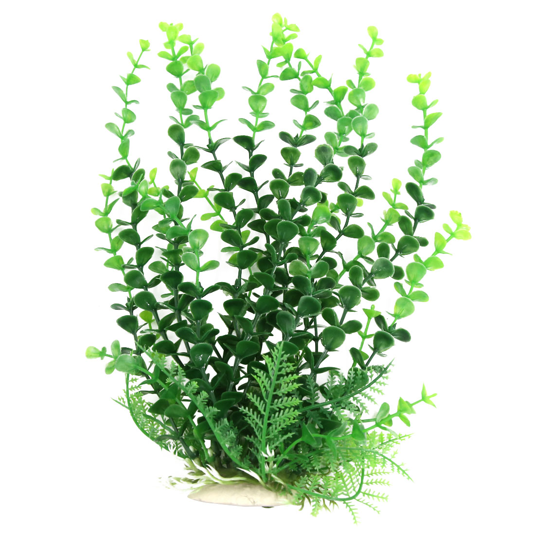 Aqua Fish Tank Decoration Green Plastic Plant Landscape For Betta 28cm