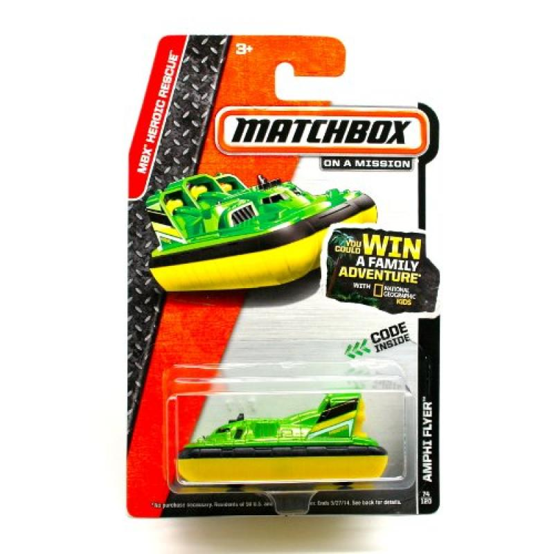 Matchbox 2014 MBX Heroic Rescue Amphi Flyer (Hovercraft) 17 120, Green by