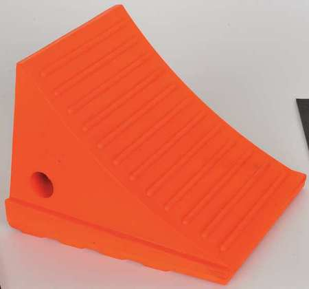 Wheel Chock,6-1/4 In H,Urethane,Orange