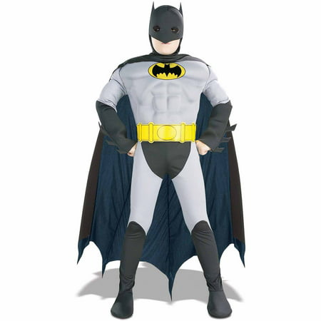 Batman Muscle Chest Child Halloween - Batman Mens Costume