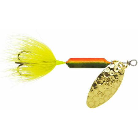 Worden's Rooster Tail, 1/4 oz, Hammered Brass Firetiger