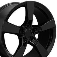 20 Inch Camaro SS Style - Fits Chevy Camaro - CV11 Gloss Black 20x9 Rim - Hollander 5531