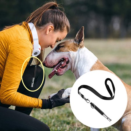 Reactionnx 1 Pack Professional Silent Dog Whistle to Stop Barking, Adjustable Pitch Ultrasonic Recall Training Tool Silent Dog Bark Control Whistle with Free
