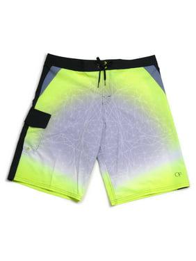 Men's Gradient Boardshort Swim Shorts Acid Yellow-SZ-28