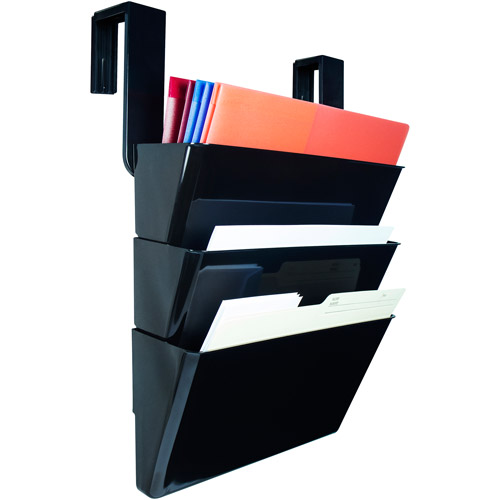 Storex Wall Files with Partition Hangers, Black