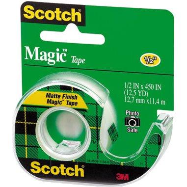 3M Magic Transparent Tape, 1/2