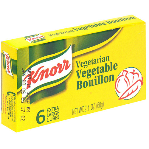 Knorr Vegetarian Vegetable Bouillon Cubes, 2.1 oz. (Pack of 24)