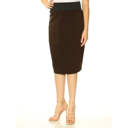bfc200e46 INC - INC Womens Brown Below The Knee Pencil Skirt Plus Size: XL -  Walmart.com
