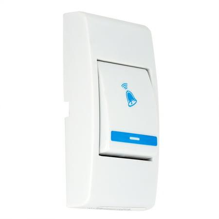 WALFRONT Sonnette de musique sans fil comprend un récepteur et un émetteur pour la sécurité du domicile, une sonnette de musique sans fil, une sonnette domestique - image 7 de 7