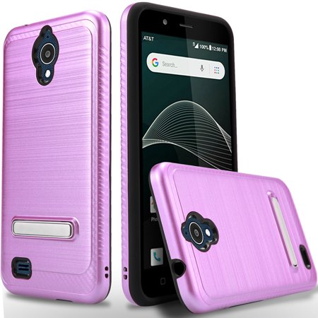 size 40 f90c4 e2d48 AT&T Axia QS5509A Case, 2-Piece Style Hybrid Shockproof Hard Case Kickstand  Cover with [ Tempered Glass Screen Protector] And Circlemalls Stylus Pen ...
