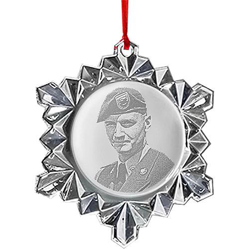 Crystal Snowflake Photo Ornament