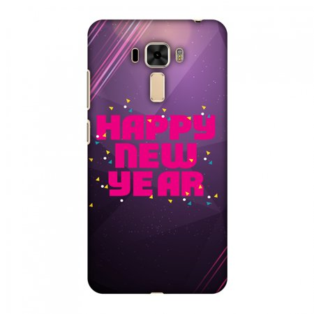Asus ZenFone 3 Laser Case, Premium Handcrafted Printed Designer Hard ShockProof Case Back Cover for Asus ZenFone 3 Laser ZC551KL - Happy New Year