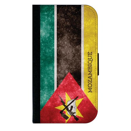 Mozambique Grunge Flag - Wallet Style Phone Case with 2 Card Slots Compatible with the Samsung Galaxy s7 Edge Universal
