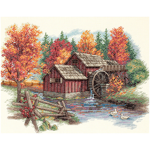 "Dimensions ""Glory Of Autumn"" Counted Cross Stitch Kit, 14"" x 11"""