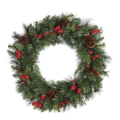 The Holiday Aisle Holiday Pine 23'' Plastic Wreath