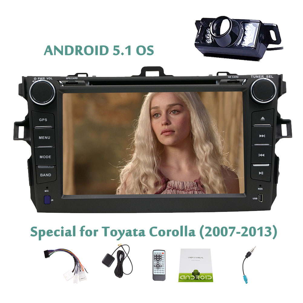 Backup Camera Included Android 5.1.1 Quad Core Capacitive...