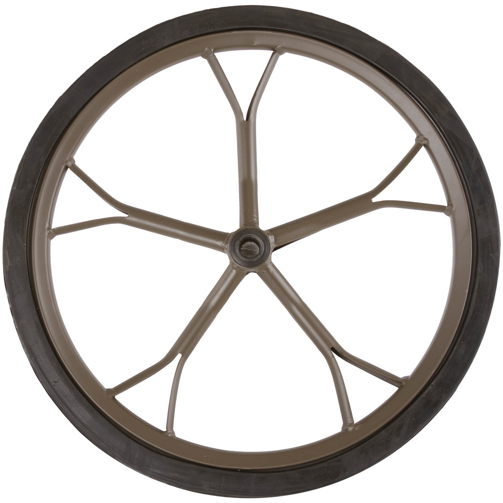 "Hunting Game Cart 18.5"" Solid Rubber Replacement Wheel"