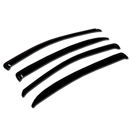TuningPros WV-522 Window Visor For 2008-2011 Subaru Outback Sport - Outside Mount Deflector Rain Guard Dark Smoke 4 Pcs Set Subaru Outback Sport 08 09 10 - Subaru Outback Diamond