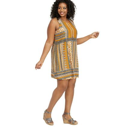maurices - Plus Size Patterned Placement Tank Dress - Walmart.com