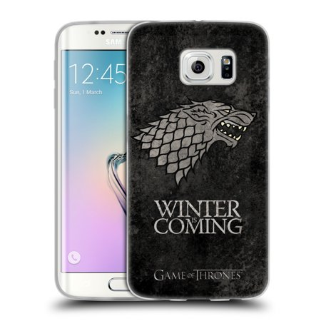 Official Hbo Game Of Thrones Dark Distressed Sigils Soft Gel Case For Samsung Phones 1