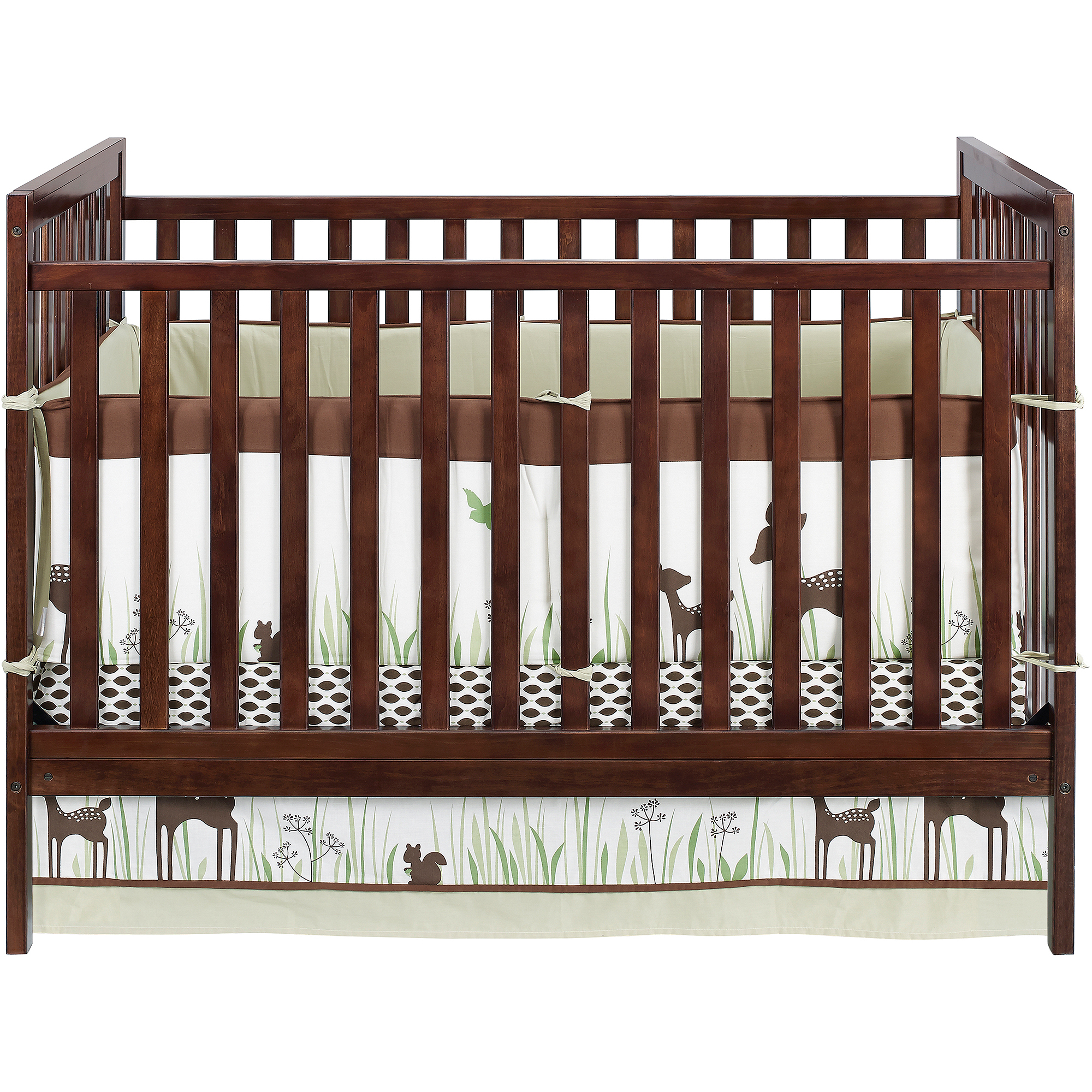 Baby Relax Ryder 2-in-1 Fixed-Side Crib with BONUS Changing Table, Espresso