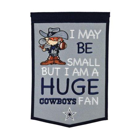Nfl Dallas Cowboys Fan - Dallas Cowboys NFL Embroidered Wool 12x18 Lil Fan Banner Flag