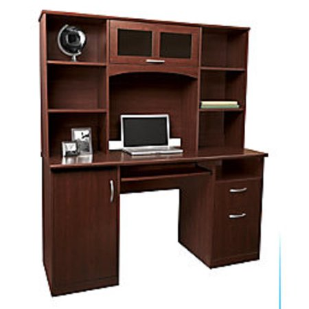 Realspace Landon Desk With Hutch, Cherry ()