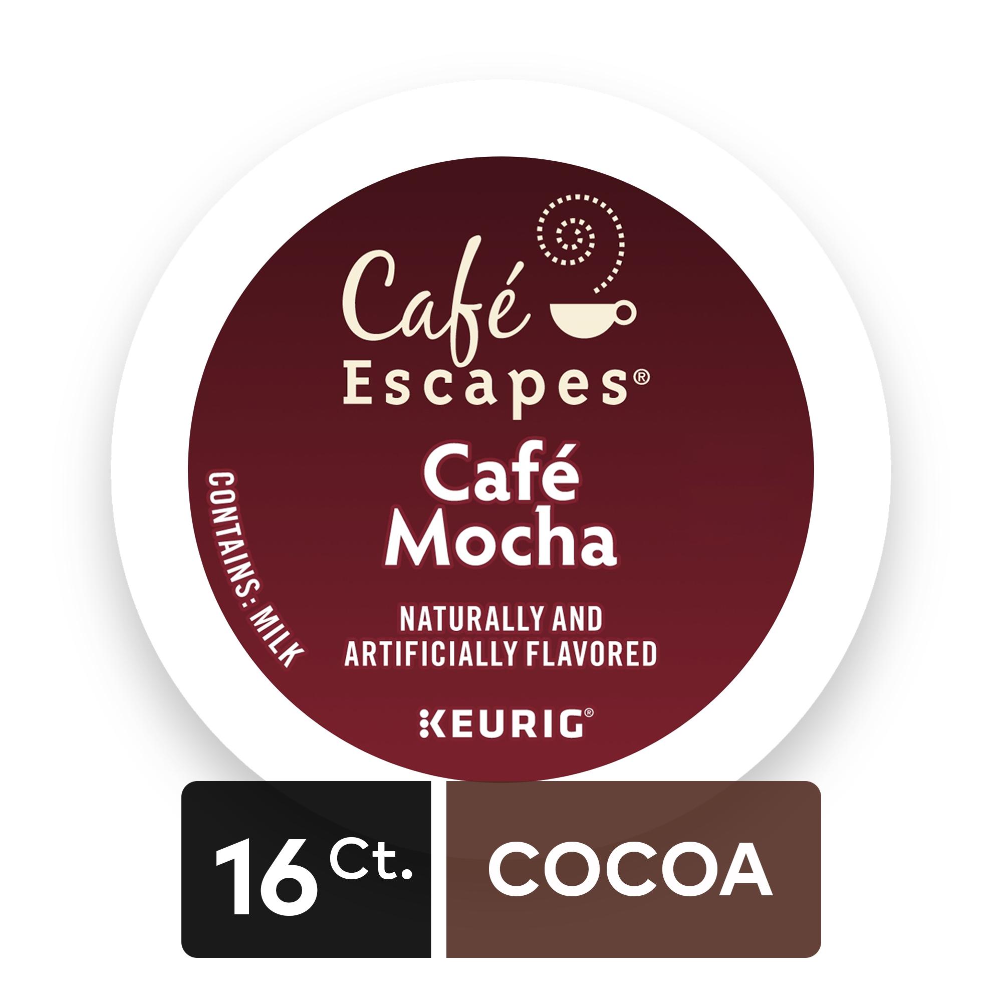 Café Escapes Café Mocha, Keurig K-Cup Pods, Specialty Beverage, 16 Count