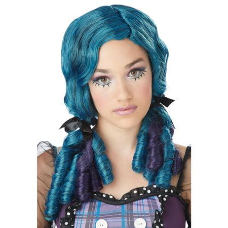 Blue Doll Curls Adult Wig - Jheri Curl Wigs