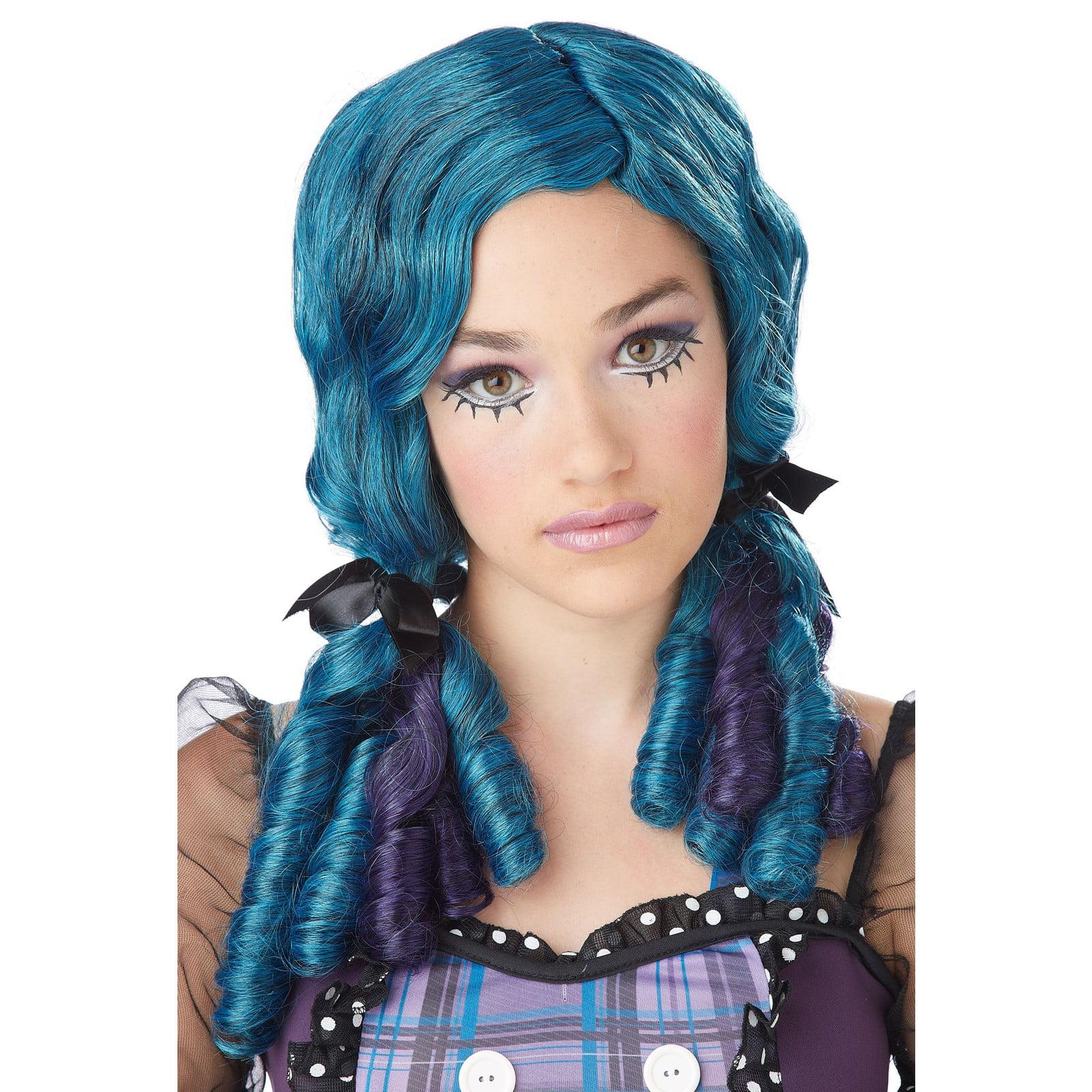 Blue Doll Curls Adult Wig