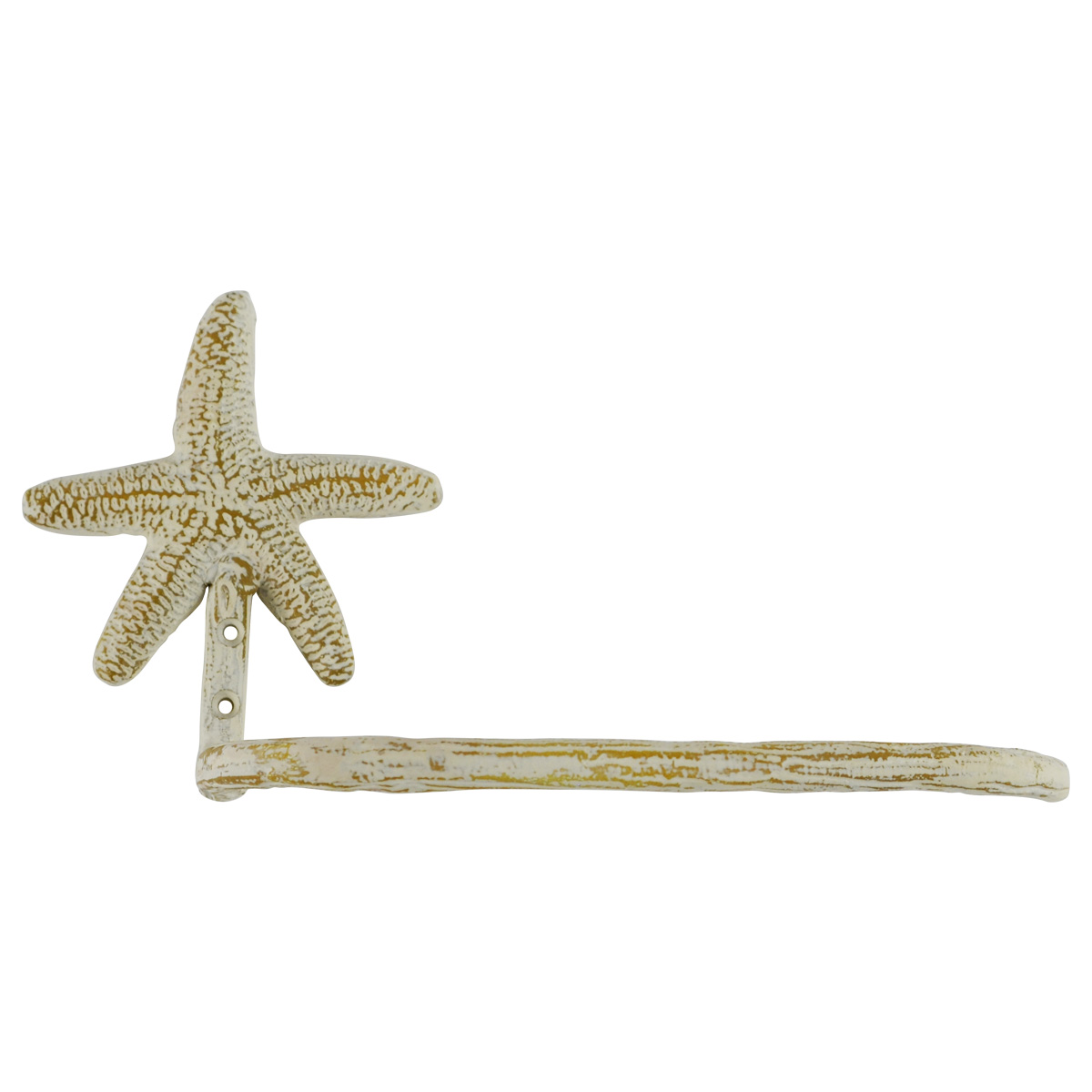Wall Mount Metal Starfish Toilet Paper TP Roll Holder Nautical Bathroom  Decor
