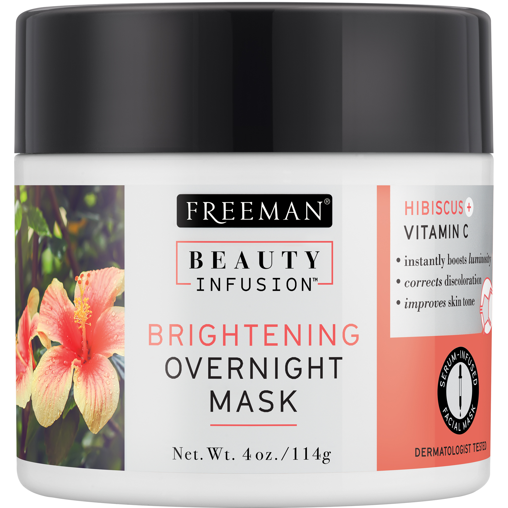 Brightening Overnight Face Mask Hibiscus Vitamin C Walmart