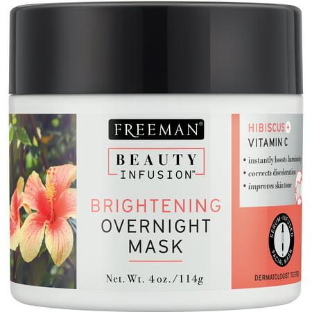 Brightening Overnight Face Mask   Hibiscus + Vitamin C