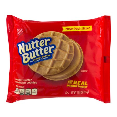 Nutter Butter Halloween Recipes ((2 Pack) Nabisco Nutter Butter Peanut Butter Sandwich Cookies, 11.8)