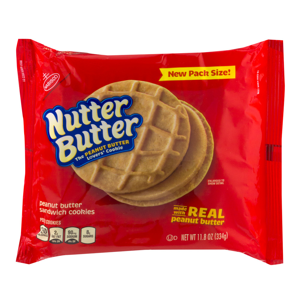 Nabisco Nutter Butter Peanut Butter Sandwich Cookies, 11.8 oz