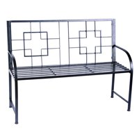 Achla Designs Square On Squares 48 in. Metal Bench