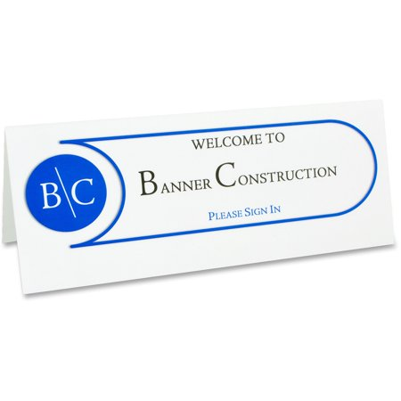 "C-Line Printer-Ready Name Tent Cards, 4-1/4"" x 11"", White Cardstock, 50 Letter Sheets/Box"