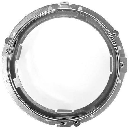 "Krator Chrome 7"" LED Headlight Mounting Ring Trim Bracket for Harley Davidson Switchback FLD 2012-2016 - image 2 de 4"